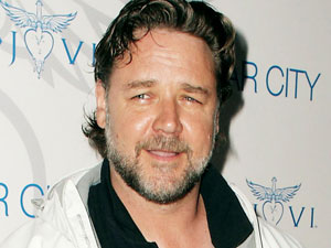 Russell Crowe arriving at the Bon Jovi 'Celebrity Only' concert in the Lyric Theatre