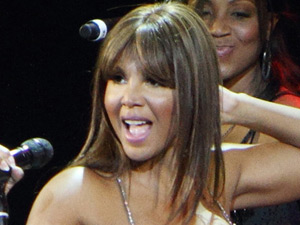 Toni Braxton performing live in concert at the Kremlin Concert Hall of Moscow
