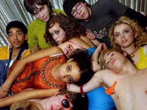 The cast of Skins season 1
