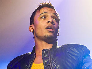 Aston Merrygold of JLS in concert with the band at London's Wembley Arena