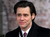 Jim Carrey on the set of his new movie Mr. Poppers Penguins in New York City