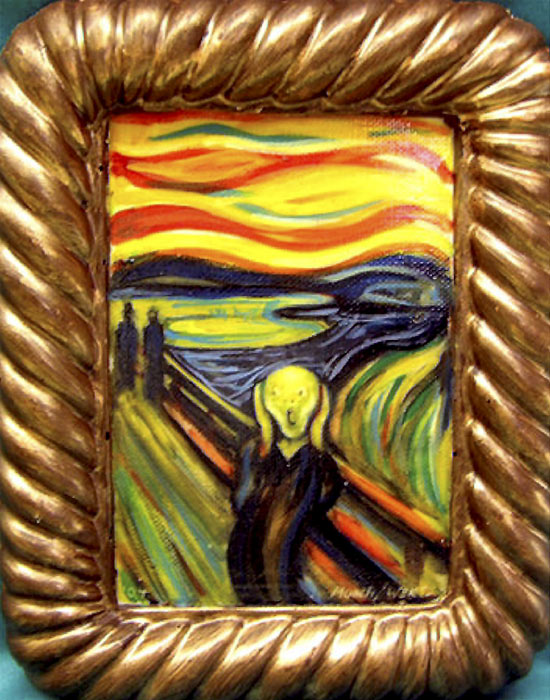 Edvard Munch's 'The Scream' rendered in chocolate by Jean Zaun