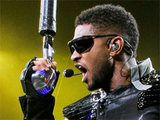 Usher performing live in Miama during his 'OMG' tour on New Year's Eve
