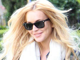 Lindsay Lohan out and about in Beverly Hills looking to be in high spirits