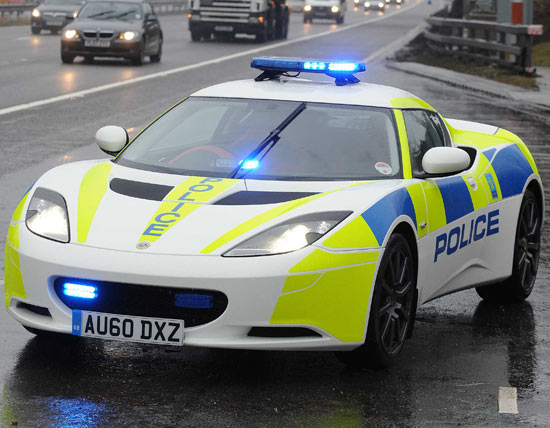 Lotus Evora police pursuit vehicle