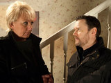 Owen threatens a scared Eileen after finding out about the cheque