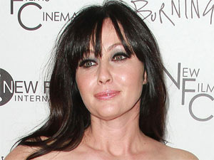 Shannen Doherty attending the Los Angeles premiere of 'Burning Palms'