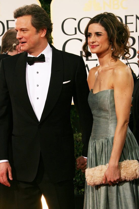 Colin Firth and Livia Giuggioli.