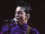Prince performing live at Madison Square Gardens, New York