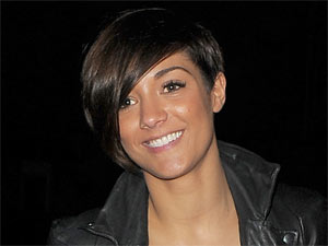 Frankie Sandford of 'The Saturdays' leaving a dance studio in East London