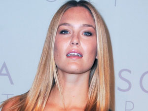 Model Bar Refaeli arriving at the Escada Sport fashion show