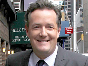 Piers Morgan at The Ed Sullivan Theater for 'The Late Show With David Letterman'