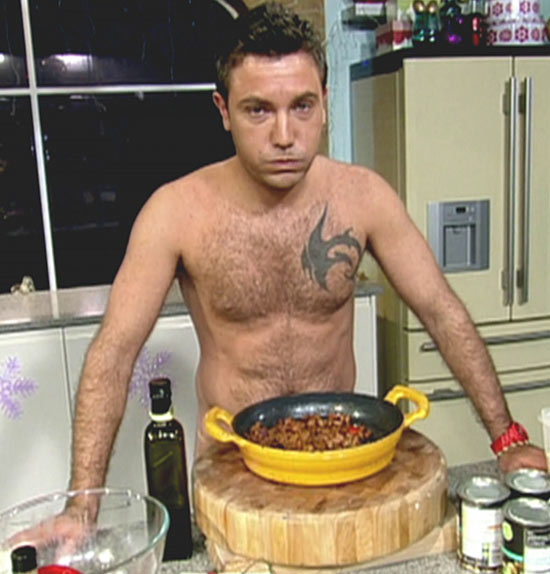 Gino D'Campo naked on This Morning