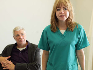 Matthew Kelly as Andrew Brookfield in Casualty, behind the scenes