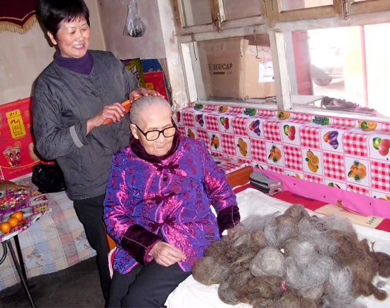 Woman collects her mother-in-law's hair for 14 years