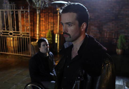 Brendan Brady (Emmett Scanlan) and newcomer Pete (Peter Mitchell)