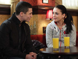 Rob comes back and surprises Whitney, he senses she's upset.