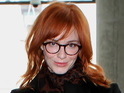 "Christina Hendricks says that her curvy figure means that she has to ""keep it simple"" with her fashion choices."