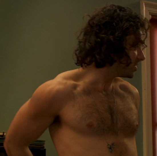 Aidan shirtless