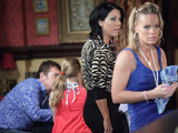 Martina asks Alfie to babysit SHenice while she takes Kat out.