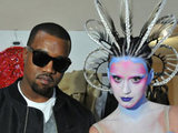 Kanye West and Katy Perry on set of new video