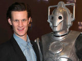 Matt Smith and a Cyberman at the Doctor Who Experience