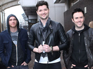 The Script outside the ITV studios in London