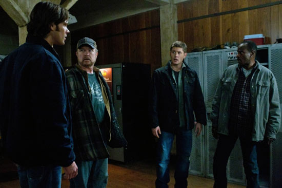Sam, Bobby, Dean and Rufus