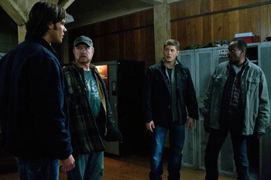 Sam, Bobby, Dean and Rufus