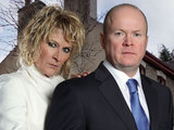 Shirley Carter (Linda Henry) and Phil Mitchell (Steve McFadden)