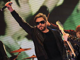 Duran Duran perform on the Italian TV show 'Quelli che il calcio'
