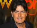 Charlie Sheen hands over more than $5,000 to a bipolar awareness group.