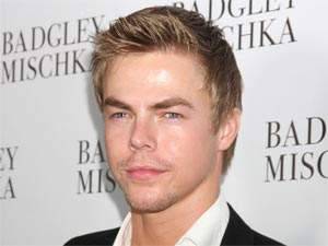 Derek Hough attending the opening of the Badgley Mischka flagship store in Beverly Hills, California