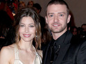 Justin Timberlake and Jessica Biel reportedly share kisses at the In Time premiere.