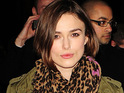 Keira Knightley says that she was brought up by her parents to be respectful to others.