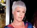 'Trouble' singer Pink says that someone recently hacked her Facebook page.