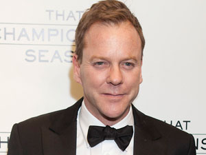 Kiefer Sutherland at the opening night of the Broadway production of &#39;That Championship Season&#39;