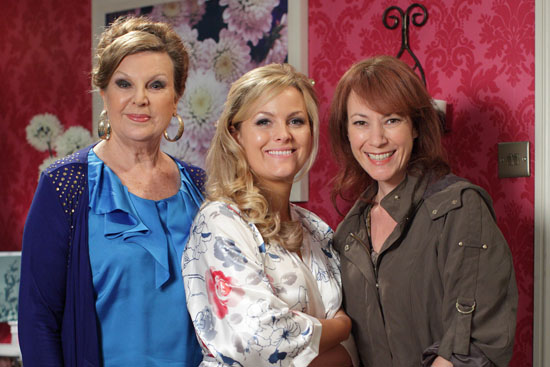 Ann Mitchell as Cora Cross, Jo Joyner as Tanya Branning and Tanya Franks as Rainie Cross.