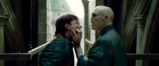 Harry Potter and Lord Voldermort in 'Harry Potter and the Deathly Hallows Part 2'