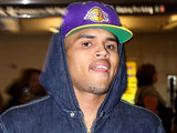Chris Brown arrives at Ronald Reagan National Airport