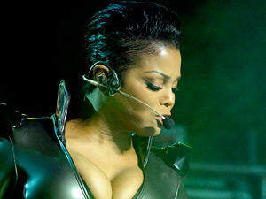 Janet Jackson performing on her 'Number Ones Up Close and Personal Tour'