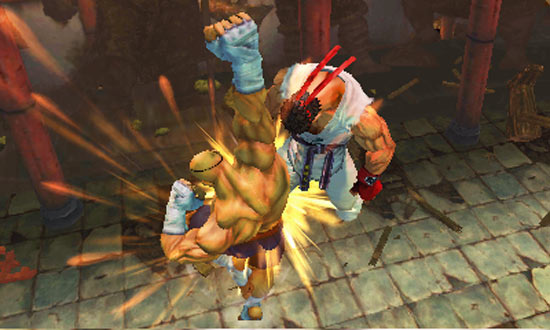 Ryu vs Sagat in Super Street Fighter IV 3D