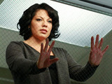 Grey&#39;s Anatomy S07E18 &#39;Song Beneath The Song&#39;: Callie Torres looks on.