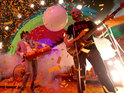 Bad weather causes The Flaming Lips to cancel a gig in Oklahoma after a lighting rig collapses.
