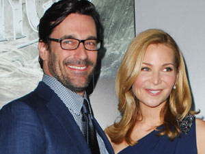 Jon Hamm and Jennifer Westfeldt at the Sucker Punch premiere