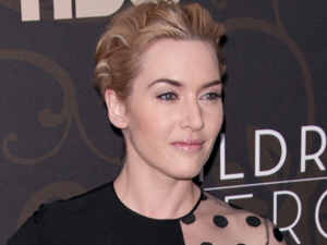 Kate Winslet arriving at the New York premiere of 'Mildred Pierce'