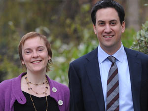 Ed Milliband and Justine Thornton