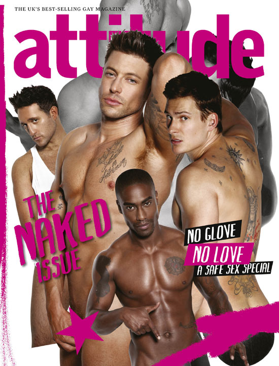 Blue on the cover of Attitude