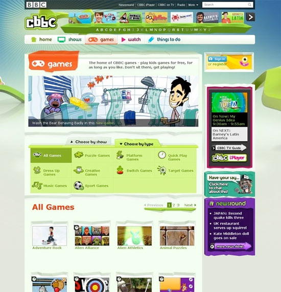 CBBC web relaunch