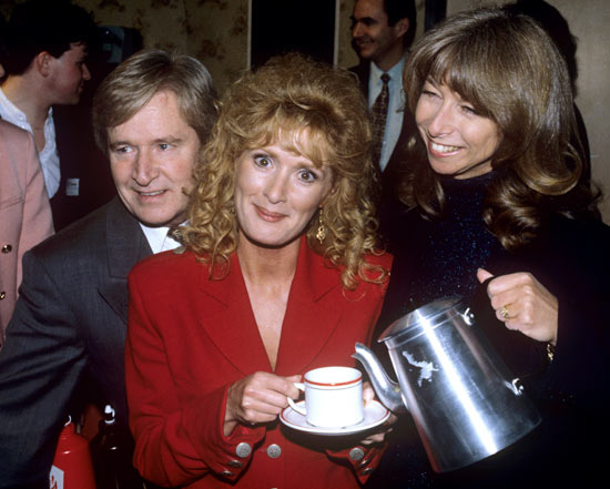 Callard with Helen Worth and William Roache